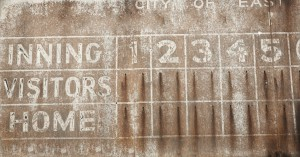 Old Baseball Scoreboard