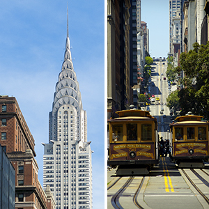 New York and San Francisco